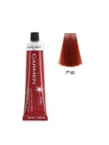 TINTE CARMEN ULTIME 60ML 7*40 RUBIO MEDIO COBRIZO NATURAL