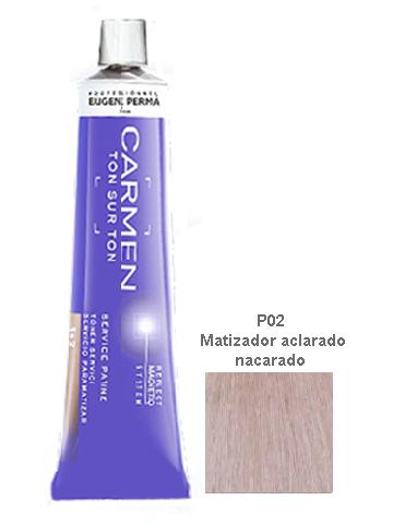 TINTE MATIZADOR CARMEN TONO SOBRE TONO P02 NACARADO 60ML