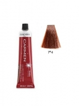 TINTE CARMEN ULTIME 60ML 7*4 RUBIO MEDIO COBRIZO