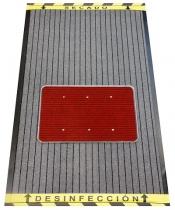 ALFOMBRA DESINFECTANTE DE CALZADO GRIS  /ROJA 90 X 150 CM.+ REGALO 1 LITRO DESINFECTANTE DECLORNET